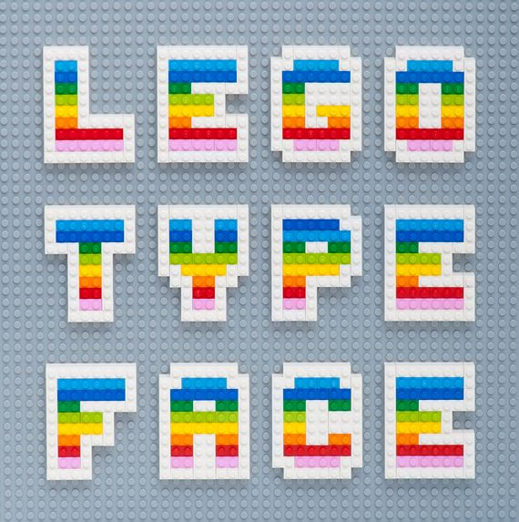 Lego Type Face—doesn't really feel like it's about Lego, but dynamite anyway.