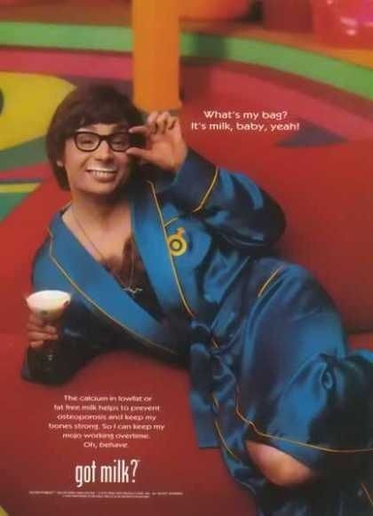 Austin Powers Got Milk? Ad