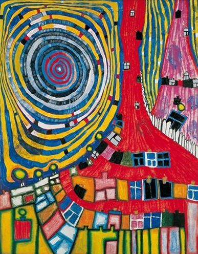 Friedensreich Hundertwasser Love his art and his mismatched socks!