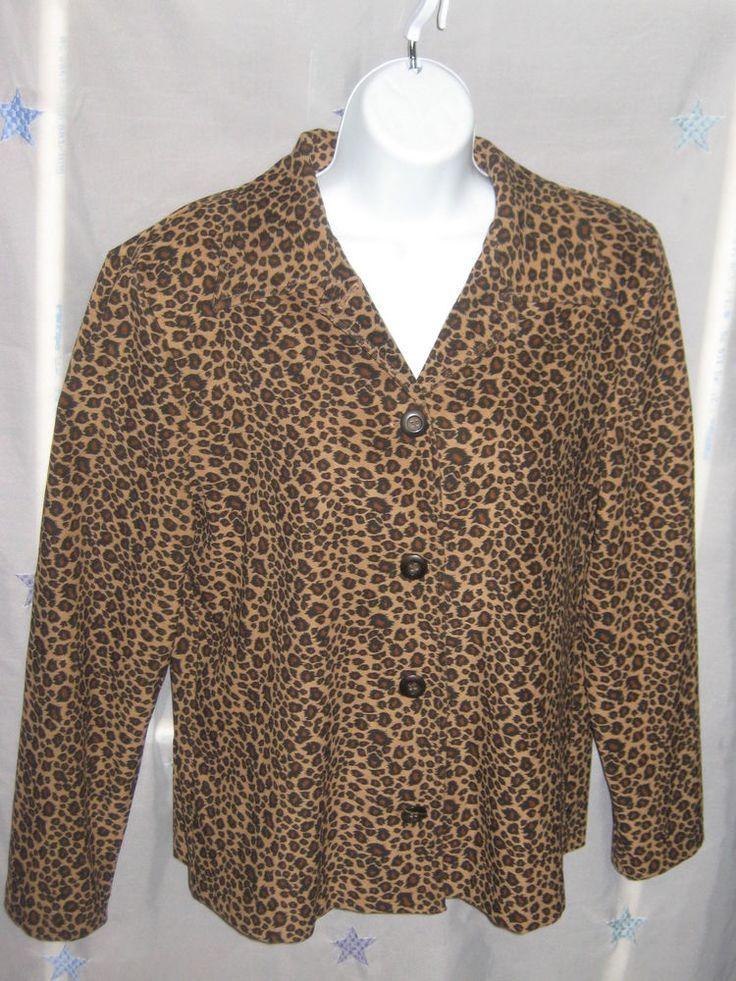 Vintage 90's Briggs Long Sleeve Blouse Top Tribal Leopard Print Boho Sm #CL22 #Briggs #Blouse #Career