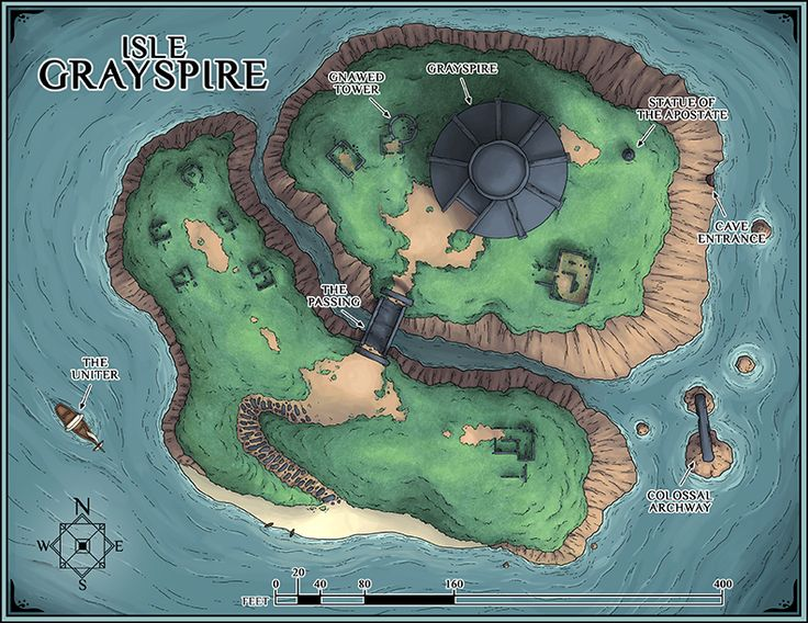 Isle Grayspire, located on the southwestern end of Lake Riona in the Ancasta Flatlands province–ancient, abandoned, and host to the Grayspire.