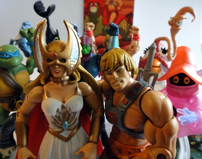 She-Ra and He-man. Twins. But he's somehow older by a few years? Hmmm.