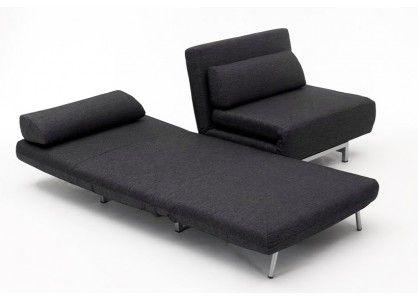 Canapé modulable design Loveseat Noir