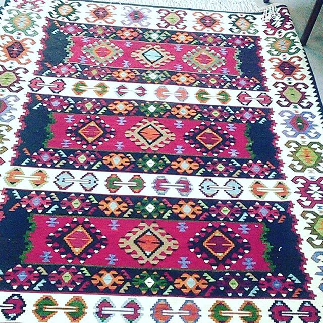 "One of a kind, hand made, semi-antique, vintage, kilim area rug from Turkey. World famous SHARKOY, little fishing town close to turkish-greek border by the Marmara Sea. Fully reversible finest weaving. Wool on Cotton. Size: 7'2""X 4'6"" Price:$1200.-, Worldwide free shipping. Accepts all major cc. DM text or call for more info. #interiordesign #fashion #losangeles #love #travel #home #handmade #homedecor #westhollywood #style #santamonica #decor #art #boho #bag #doctor #law #california #rug…"