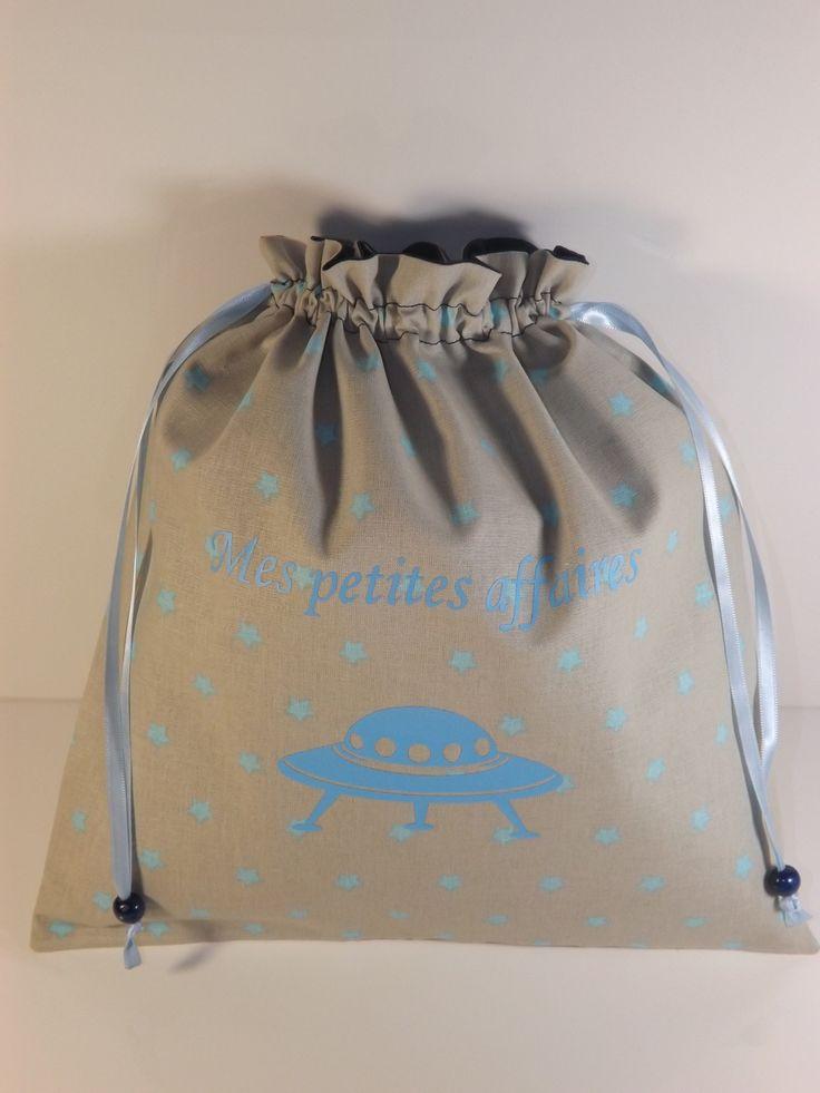 Pochon personnalisable pour garçon pour vêtements de rechange : Sacs enfants par les-p-tites-zettouilles