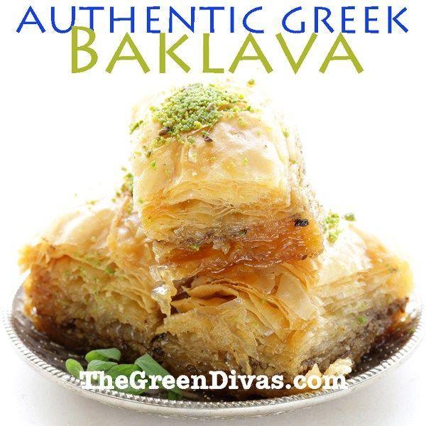 authentic green baklava image on the green divas