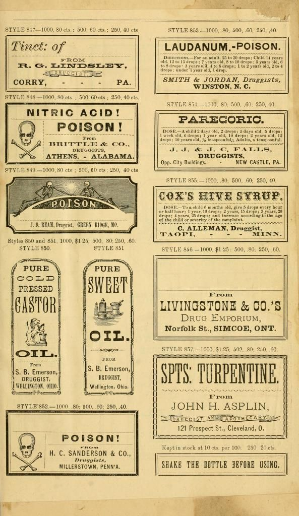 The Graffical Muse: apothecary labels, also in b&w