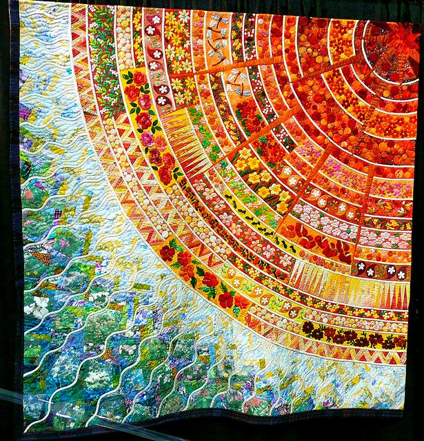 """The Breath of Life"" by Harumi Asada. #sun #quilt"