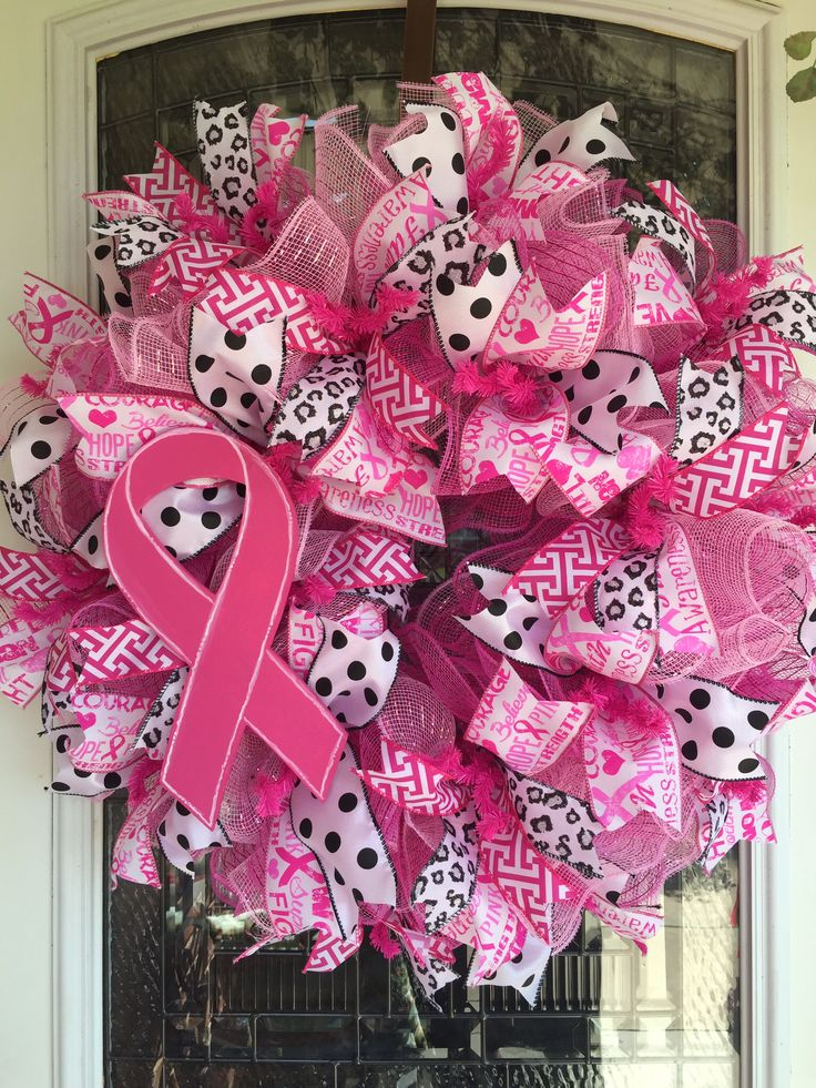 Breast Cancer Wreath