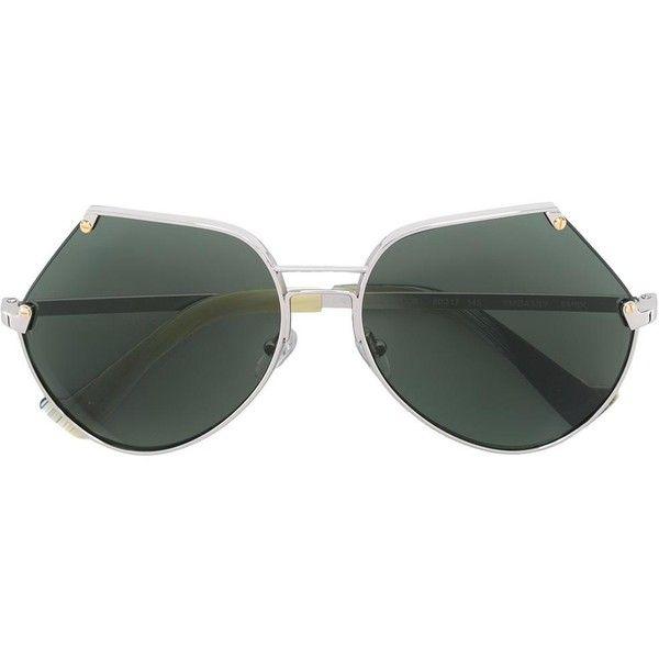 Grey Ant 'Embassy' sunglasses (30.825 RUB) via Polyvore featuring accessories, eyewear, sunglasses, grey, grey sunglasses, grey ant sunglasses, metallic sunglasses, gray sunglasses и unisex glasses
