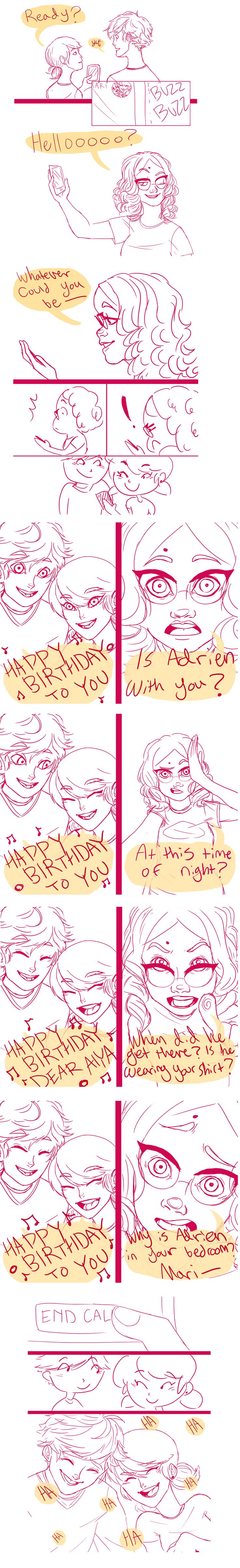 Happy Birthday by Clovercard.deviantart.com on @DeviantArt<I read a fan fiction that went exactly like this