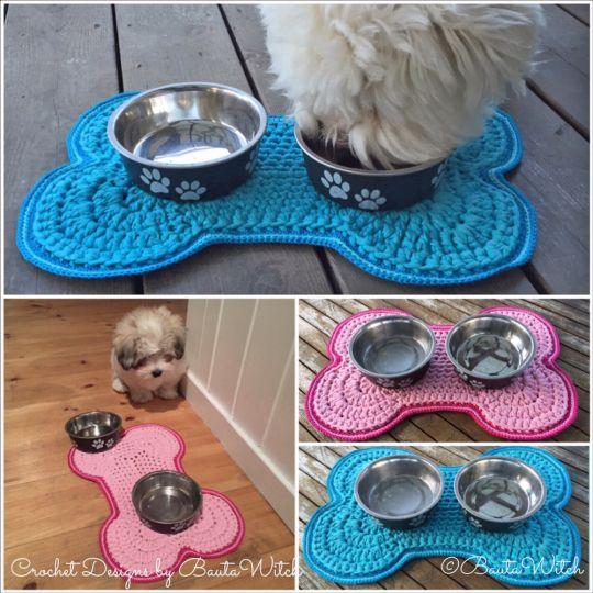 Food mat by BautaWitch - free pattern.