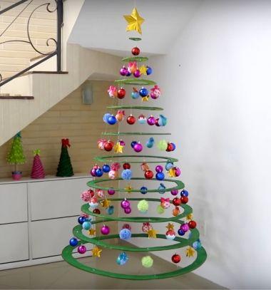 Különleges lebegő karácsonyfa karton papírból damillal / Mindy -  kreatív ötletek és dekorációk minden napra