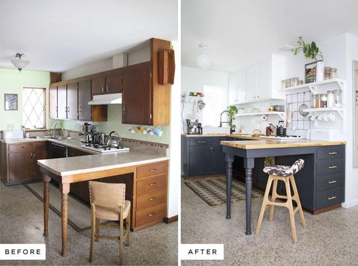 Best Before After Kitchen Ideas On Pinterest Floating - Remodelled kitchens before and after