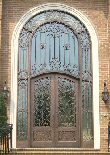 This hand forged custom wrought iron door is simply breathtaking. We wonu0027 & 56 best Doors by Design - Iron Doors images on Pinterest | Wrought ... pezcame.com
