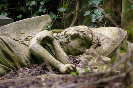 Image result for highgate cemetery sleeping angel