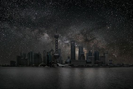 What would the sky look if there are no city lights?
