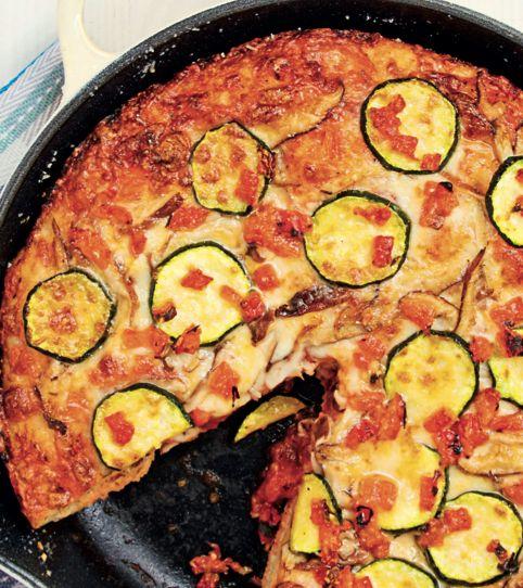 Deep Dish Vegetarian Supreme Pizza