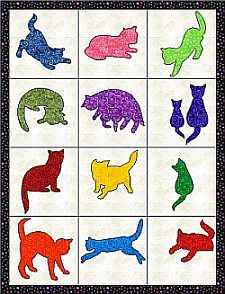 FREE CAT PATTERNS TO APPLIQUE | APPLIQ PATTERNS
