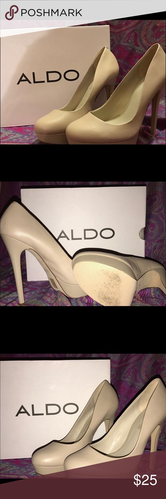 Aldo cream high heels Cream high heels. Really comfortable to walk in and only worn once for senior pictures. Aldo Shoes Heels