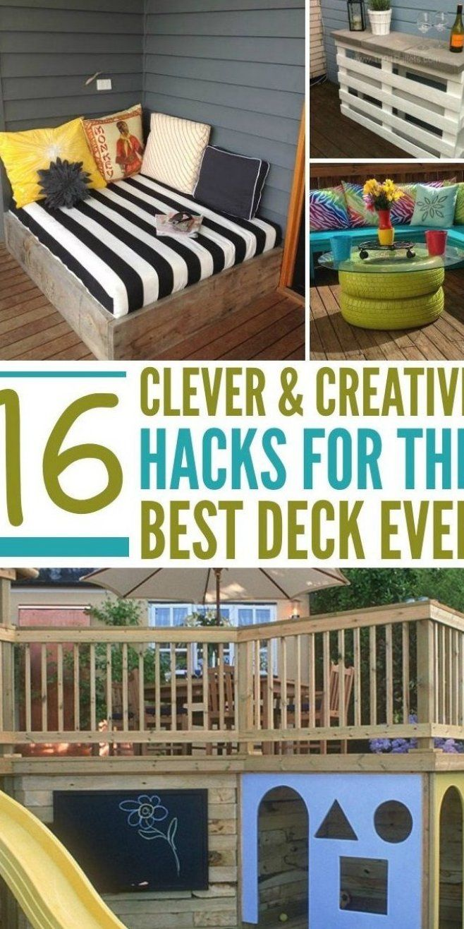 15 Deck Ideas For An Amazing Outdoor Space Brilliant Decks For Any Home Click To See All The Creative Ideas Bedroomde In 2020 Decks Backyard Diy Deck Outdoor Deck