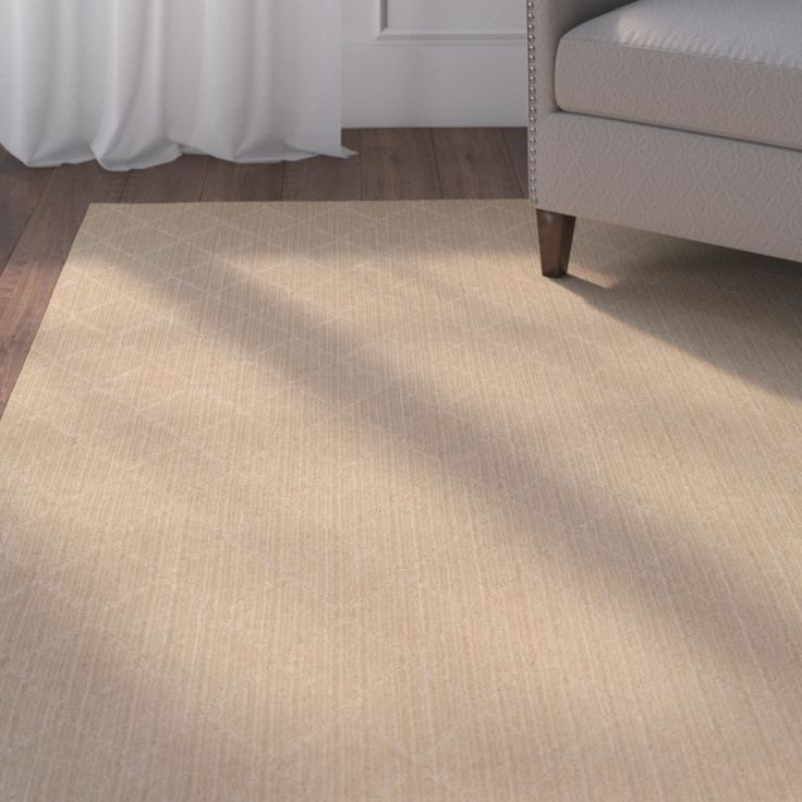 Simple rugs can bring a lot of style to your space. Try rolling out this understated design in your home to tie together an eclectic aesthetic, define space in a busy room, or set a foundation for a minimalist-chic ensemble. Showcasing a subtle diamond trellis pattern and a soft beige hue, this USA-made rug pairs perfectly with traditional American styles. It is also crafted from polypropylene, so you can use it both inside and outside of your home. Set it down on your patio along with a…