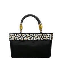 Buy Shimmer Handbag with Elegant Border (Black) handbag online