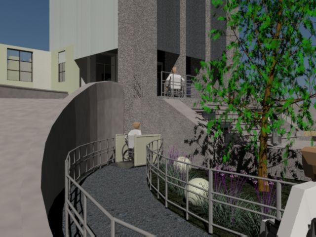 propuesta de accesibilidad en acceso a hospital San juan de Dios