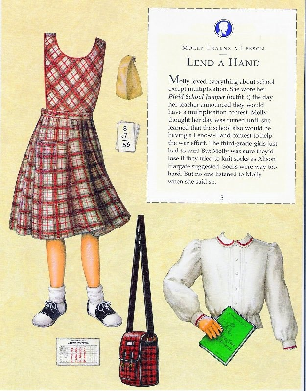 American Girl Molly - outfits