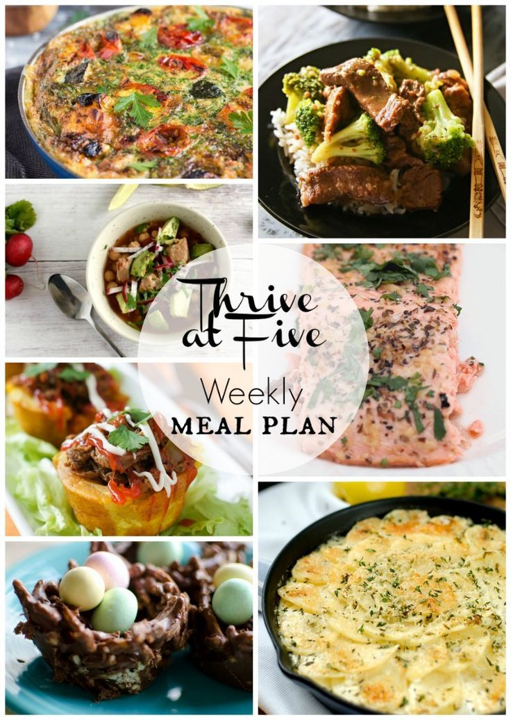 If the daily dinner dilemma has gotten you down, look no further.  | Free Meal Plan | Meal Planning | Thrive at Five | Weekly Meal Plan | Meal Plan like a boss |