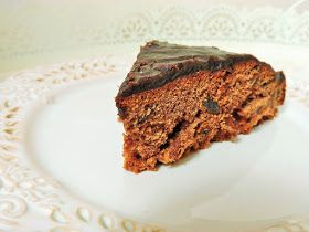 """Chocolate cake - recipe from my favourite book from teenage times """"Kwiat Kalafiora"""" by Malgorzata Musierowicz. It was first cake made by my own, I was 14."""