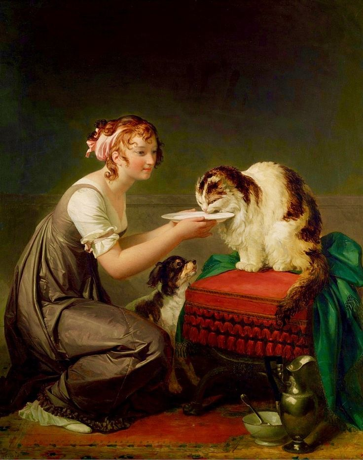 Marguerite Gérard, The Cat's Lunch, Late 18th century, early 19th century