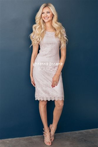 Peaceful Lace Dress in Whisper Pink! Modest lace dress, modest dresses, bridesmaids dress