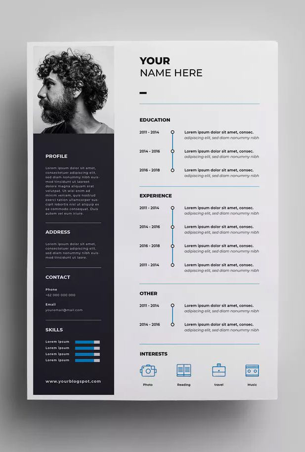 Resume Design Templates 01 By Surotype On Envato Elements Resume Design Template Resume Design Template Design