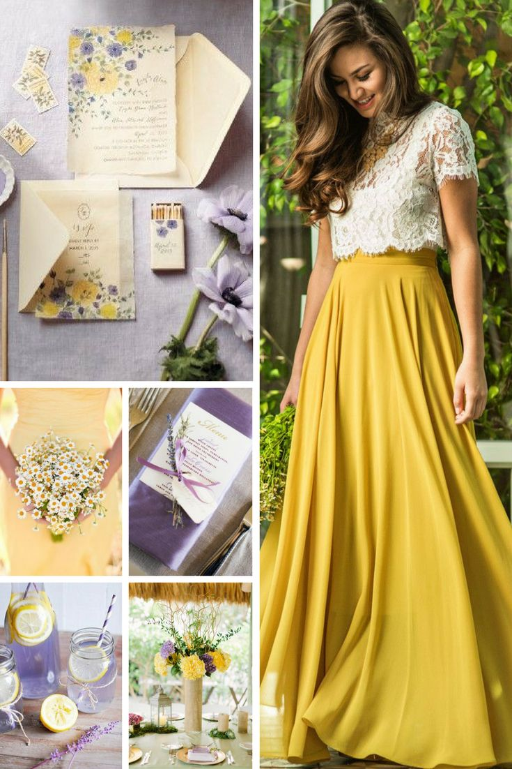 Yellow & Lavender Wedding Inspiration from Burgh Brides