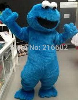 ==> [Free Shipping] Buy Best Fast Free Shipping Sesame Street Blue Cookie Monster mascot costume Cheap Elmo Mascot Adult Character Costume Fancy Dress Online with LOWEST Price   32219456222