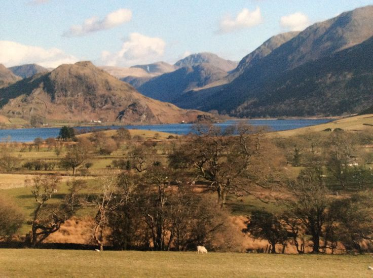 Crummock Water from Foulsyke looking South with Whiteless Pike to the East and Great Gable in the background .The best of all the wonderful Cumbrian views.