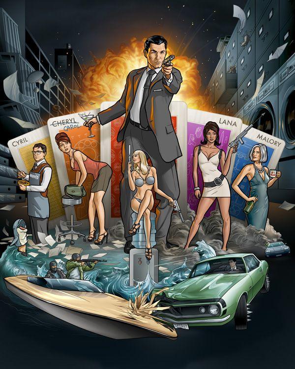 Martin Ansin, legendary illustrator.  Archer (FX Network), legendary LOL TV show