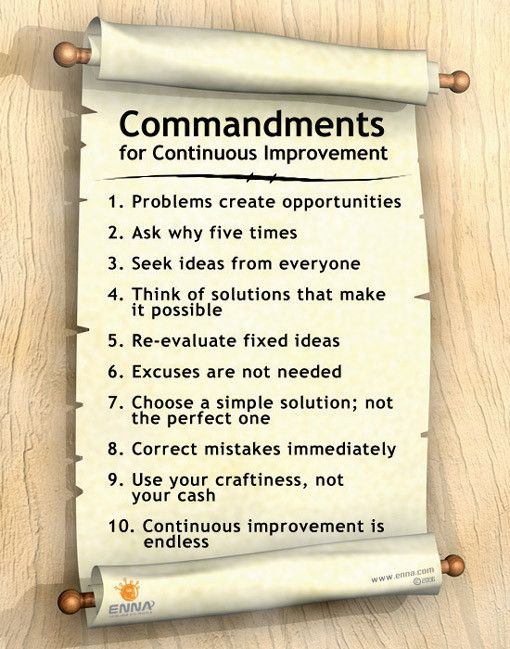 Continuous Improvement Poster Commandments