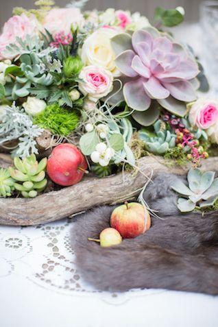 Succulent centerpieces | Cecelina Photography