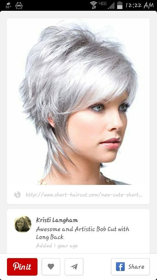 10 Best Hair Ly Images On Pinterest Bob Cuts Dyed White Hair And