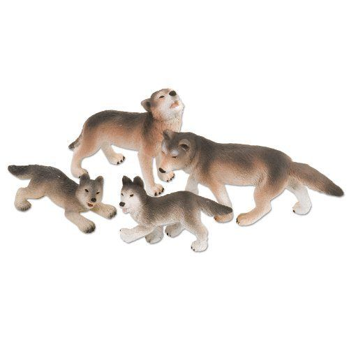 Wolf Family Toy : Eco dome wolf by wild republic set of adults