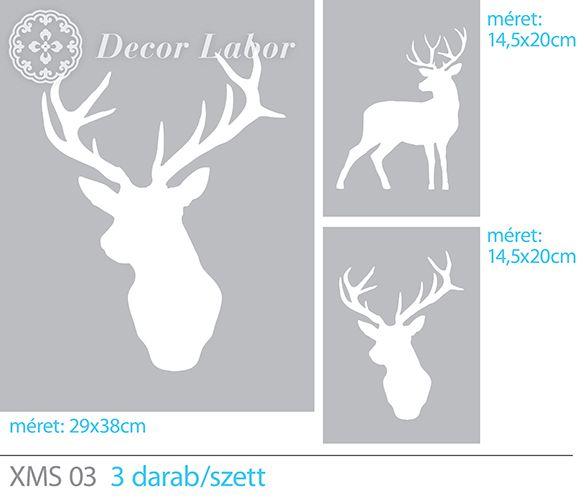 deer stencil / nagy szarvas szett http://decorlabor.hu/osszes%20minta/nagy_szarvas_szett_345