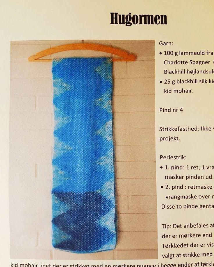 Lavet opskrift på tørklæde, strikket i lammeuld fra undertegnede og kid mohair…