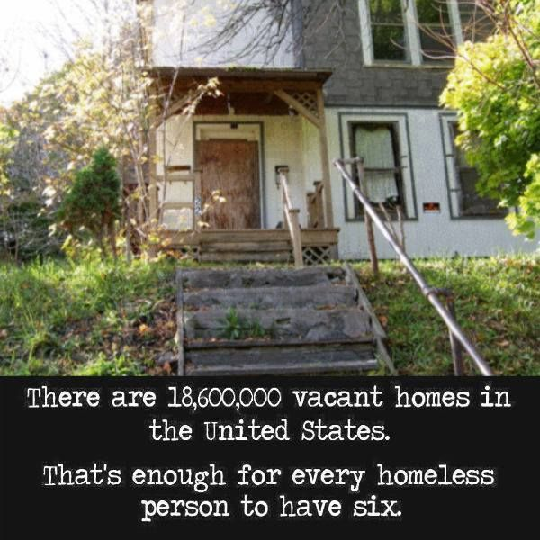 Approximately 3.5 million people in the U.S. are homeless. It is worth noting that, at the same time, there are 18.6 million vacant homes in the country.
