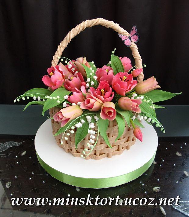 торт с тюльпанами фото   Photo-Feel.ru