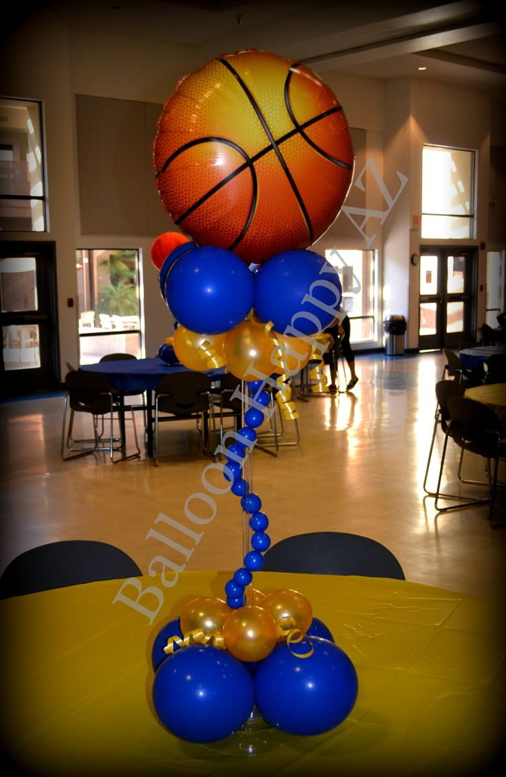 Basketball balloon centerpiece approximately quot tall