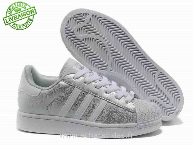 adidas superstar gris argent
