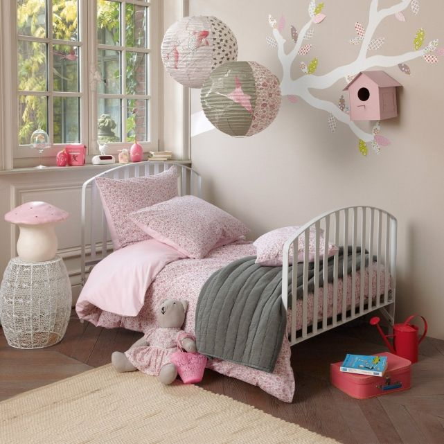 Kinderkamer grijs roze wit meisjes slaapkamer pinterest girl rooms colour and grey - Baby slaapkamer deco ...