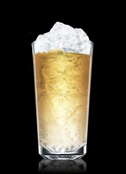 Vodka & ginger ale - ice, 2 parts vodka, 5 parts ginger ale, lime wedge